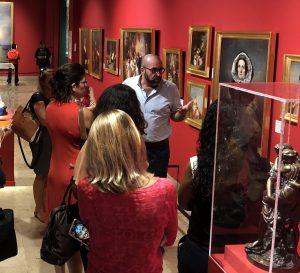 Visite du musée Léon Dierx après la conférence